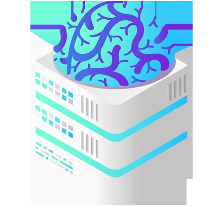 Virtual brain on building