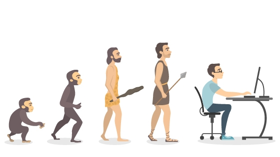Evolution of human in pictures