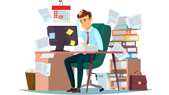 Accountant with work overload